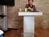 Voorzitter van het SHP, Joke van der Beek, tijdens haar speech bij de ondertekening van het Sociaal Woonakkoord 2016. )akkoord tussen Gemeente, gezamenlijke Bossche wooncorporaties en het Stedelijk HuurdersPlatform